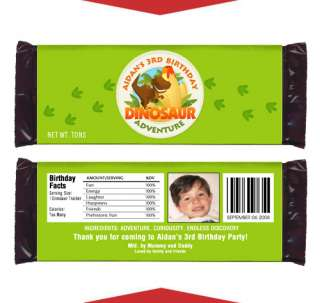 DINOSAUR Boy Birthday Party Favors CANDY WRAPPERS