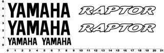 Yamaha Raptor Decals Graphics Stickers