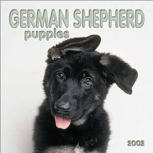 German Shepherd Puppies 2002 Mini Wall Calendar