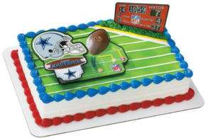 DALLAS COWBOYS NFL FOOTBALL CAKE DECORATION TOPPER NEW