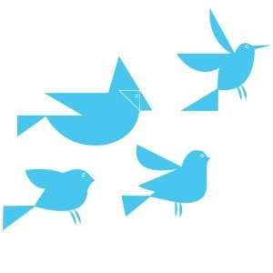 Flock of Retro Birds   Vinyl Wall Decal