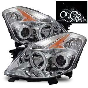 2008 2009 Nissan Altima CCFL Halo Projector Headlights /w Amber (Black