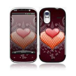 Double Hearts Decorative Skin Cover Decal Sticker for HTC