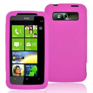 PREMIUM SILICONE CASE HTC 7 TROPHY HOT PINK Cell Phones & Accessories