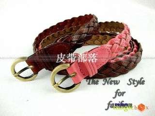 Women Fashion Cute Knit Leather Waist Belt 7 Color New