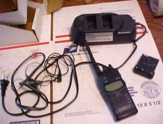 Kenwood TH 79A 440 2 meter Ham Radio Charger Ear Piece Double Charger