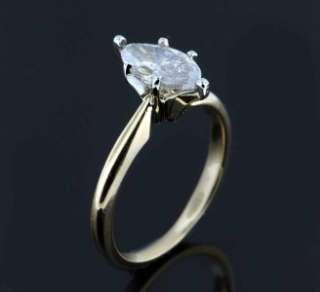 13 CARAT MARQUISE DIAMOND ENGAGEMENT RING 14K YELLOW GOLD ESTATE