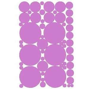 53 Lilac Purple Vinyl Polka Dots Wall Decor Decals