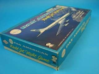 Jet Plane Flight Board Game American Hassenfeld Bros. Airplane 1956