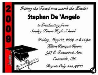 GRADUATION INVITATIONS & Envelopes   ALL SCHOOL COLORS