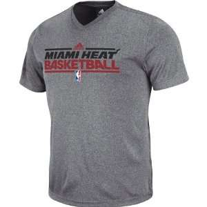 Adidas Miami Heat Pre Game Fitted T Shirt Medium