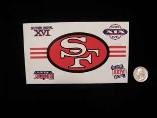 JOE MONTANA 49ers 4 SUPER BOWL LOGO DECAL STICKER