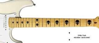 Punisher Skulls Electric Guitar Inlays Neck Decals Logo