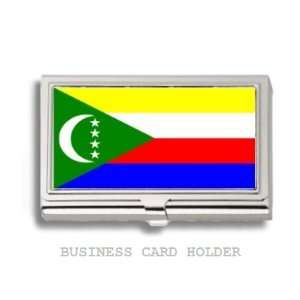 Comoros Islands Flag Business Card Holder Case
