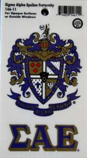 Sigma Alpha Epsilon Crest and Letters Stickers / Decal