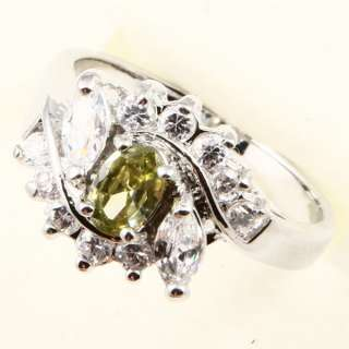 NOBLE LADY GREEN PERIDOT *A005* Wedding RING