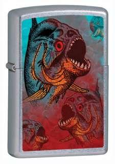 Killer Tropical Fish Piranha Chrome Zippo Lighter New