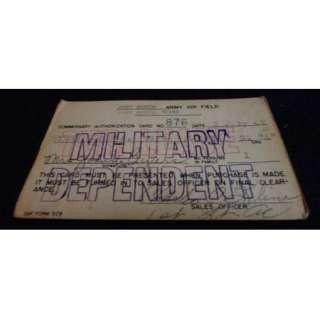 1947 WWII Military ID Card FORT WORTH ARMY AIR FIELD TX