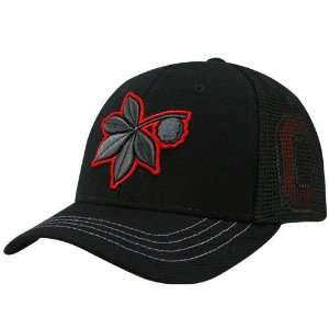 Ohio State Buckeyes Black Smoke Screen Fitted Hat