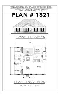 1638sf Ranch House Plan w/Garage on Basement