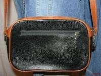 BFS01~NEW FASHION Black & British Tan Leather Front Pocket Shoulder
