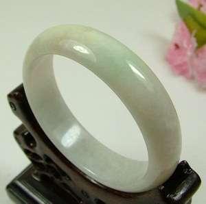 Light Green White Natural A Jade Jadeite Bangles Bracelets 52mm