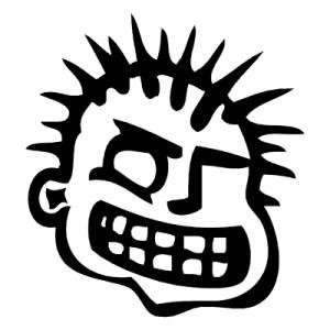 MXPX BAND WHITE LOGO VINYL DECAL STICKER