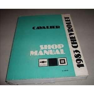1983 Chevy Chevrole Cavalier Service Shop Manual Oem Books