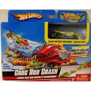 Hot Wheels Color Shifters Croc Rod Crash Playset