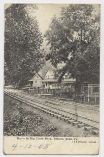 1902 BRISOL VA N Big Creek Park Railroad racks Houses poscard
