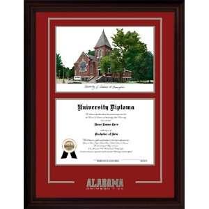 Alabama Crimson Tide Bama Alumni Mahogany Diploma Frame