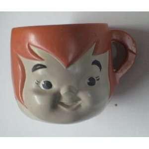 Vintage Flintstones Pebbles Flintstone Plastic Cup