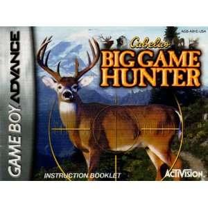 Cabelas Big Game Hunter GBA Instruction Booklet (Game Boy
