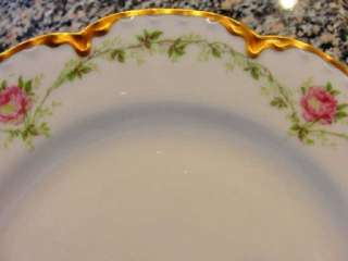 STUNNING HAVILAND LIMOGES FRANCE CHINA #291 LUNCH PLATE WITH ROSES