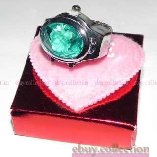 Price Quartz Elastic Crystal Rhinestone Lady Finger Ring Watch
