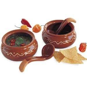 Terracotta Salsa Bowl and Ladle