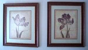 Home Interiors and Gifts Framed Art, Floral *2 pcs*