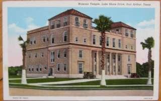 1940 Postcard   Masonic Temple   Port Arthur, Texas, TX