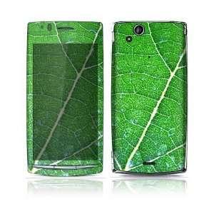 Sony Ericsson Xperia Arc, Arc S Decal Skin   Green Leaf