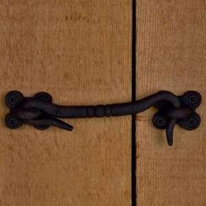 8 Iron Cabin Door Hook Latch   Black Powder Coat Arts
