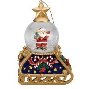 Mr. Christmas Mini Musical Snowglobe Santa Everything