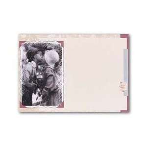 Kids Kissing Flat Card   5.5 x 7.75   50 Flatcards Office Products