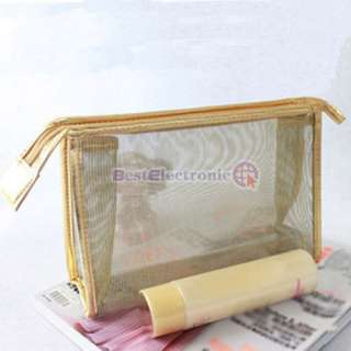 with transparent design the style of the makeup bag is elegance