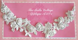 Shabby Cottage Chic Large ROSE Swag Furniture APPLIQUE