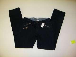 No Boundaries Womans Junior Denim Jeans Capri Dark SZ5