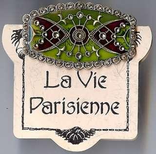 CATHERINE POPESCO FRANCE CRYSTAL ENAMEL PIN ON CARD