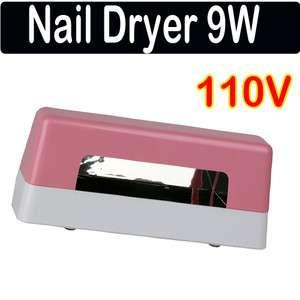 Professional nail art Gel UV lamp light dryer 9W 110 120V