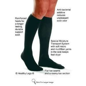 mmHg Closed Toe Knee High Support Socks   1 pair(115110   Black Large