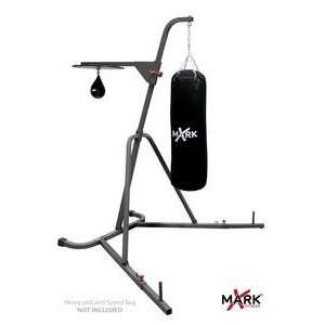 XMark Deluxe Heavy Bag Stand with Adjustable Speed Bag