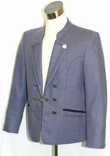 WOOL ~ BLUE Men German Hunting Western Suit JACKET 44 L
